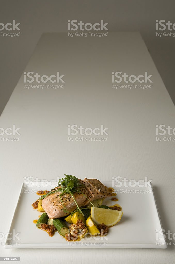 Salmon on White stock photo