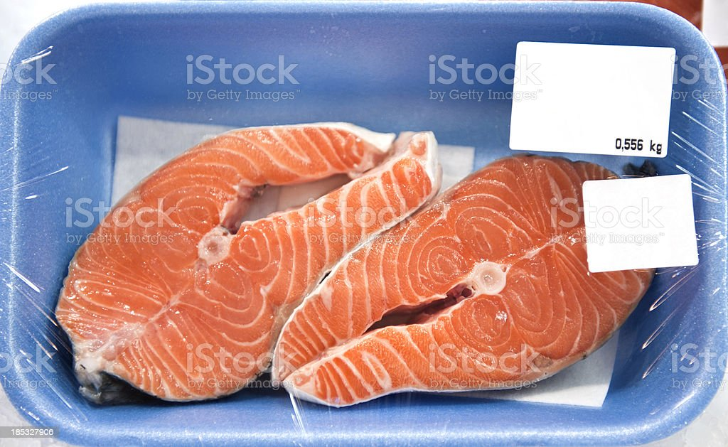 Salmon package royalty-free stock photo