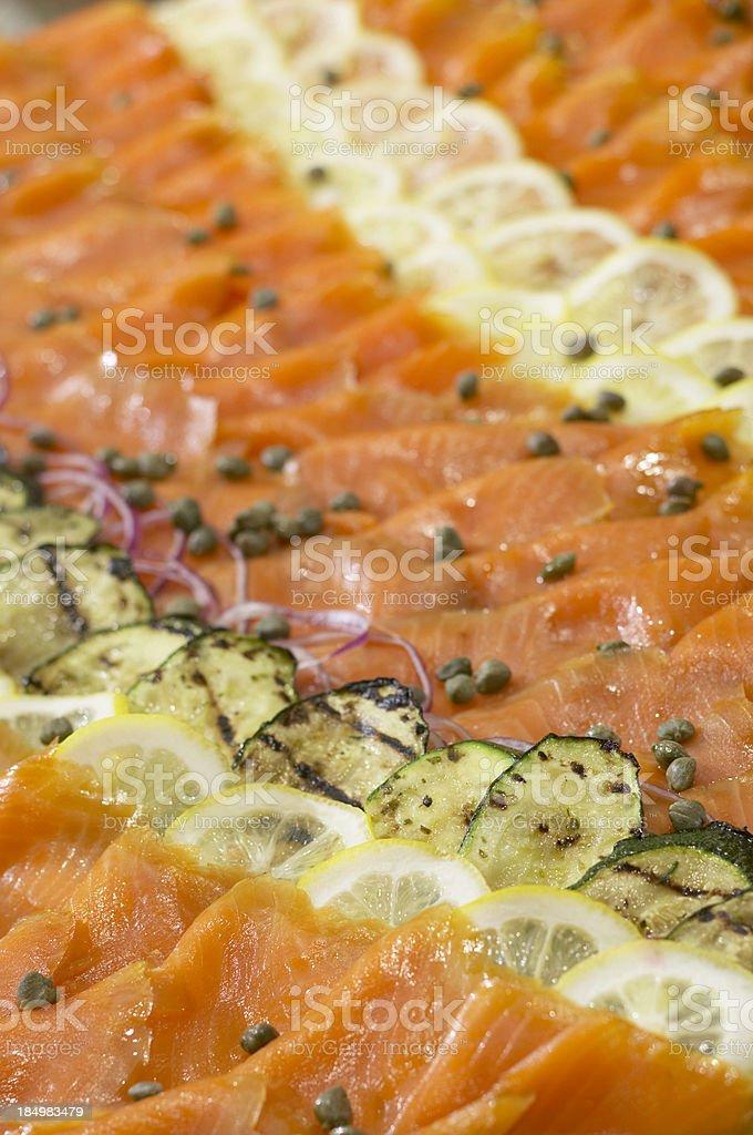 Salmon Party Platter stock photo