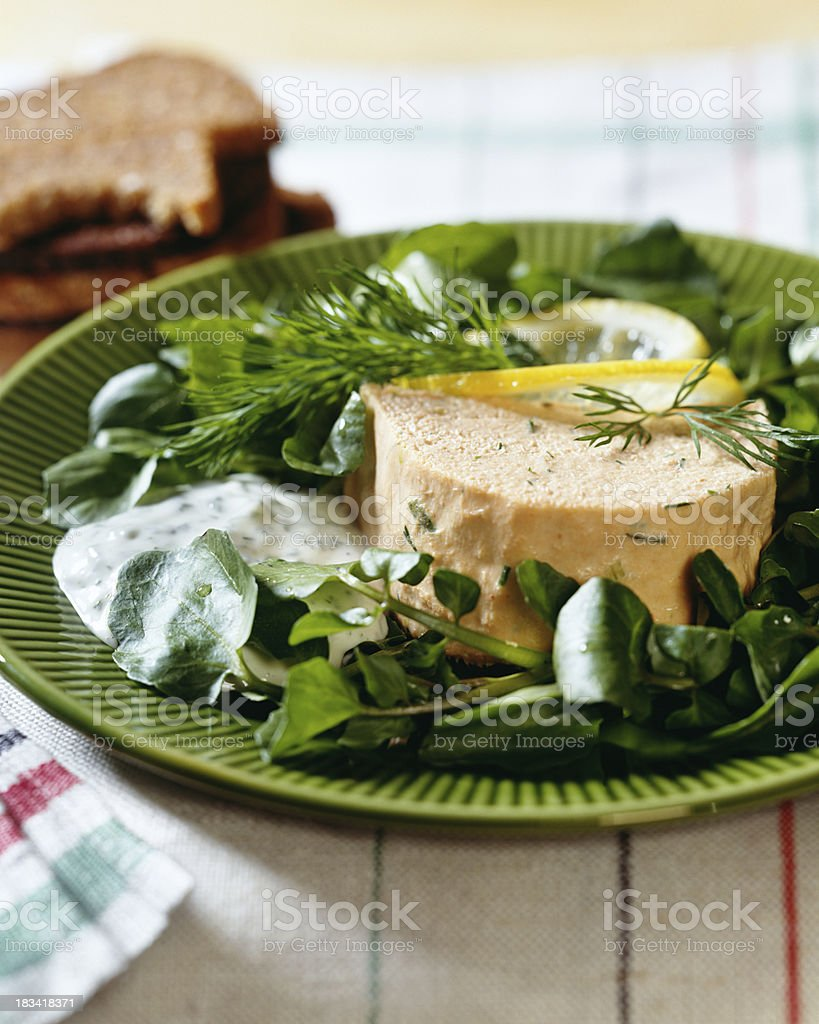 Salmon Pate stock photo