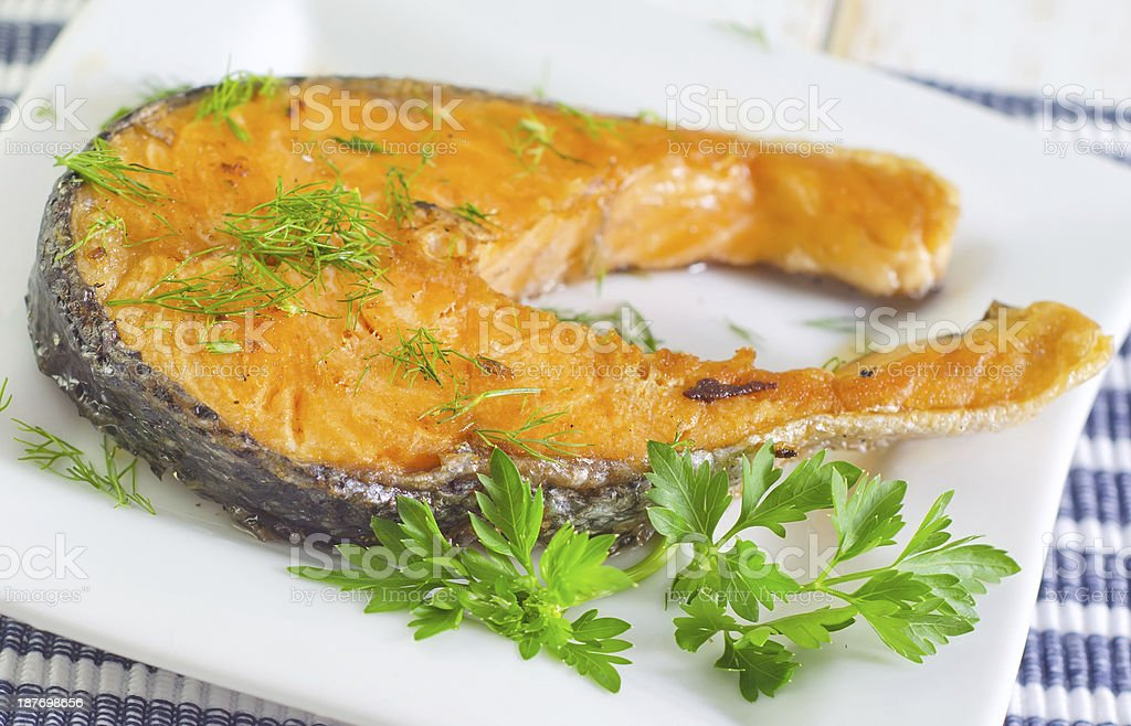 salmon royalty-free stock photo