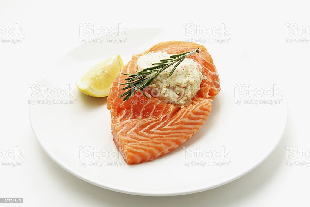 Salmon royalty-free stock photo