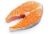 Salmon raw fish meat
