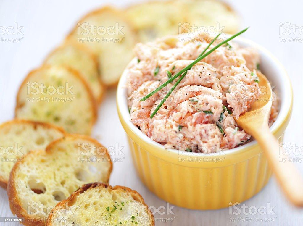 Salmon Rillette stock photo
