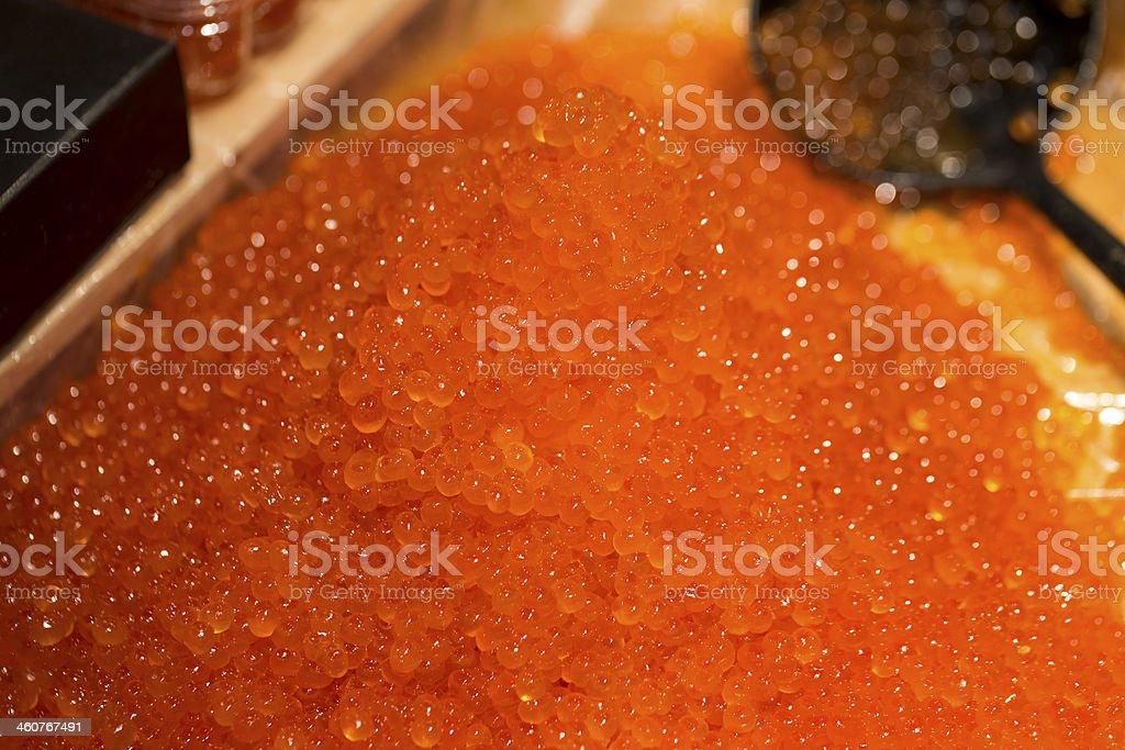 Salmon Roe, or Ikura, in Japan stock photo