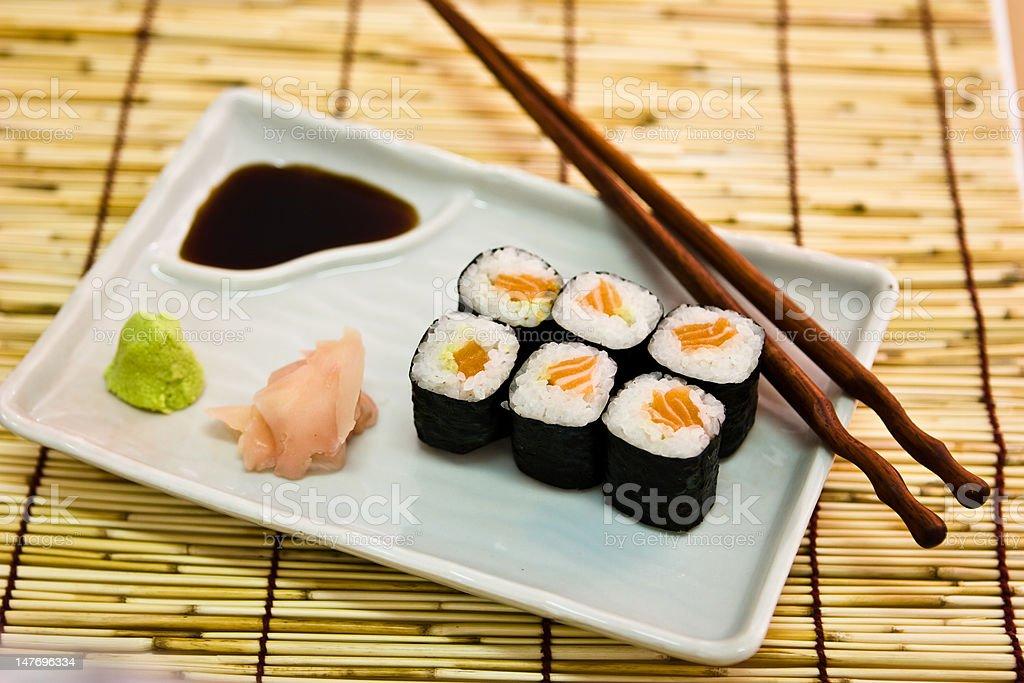 Rotolo di salmone foto stock royalty-free