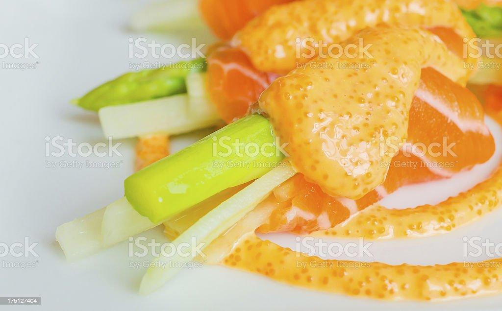 Salmon roll royalty-free stock photo