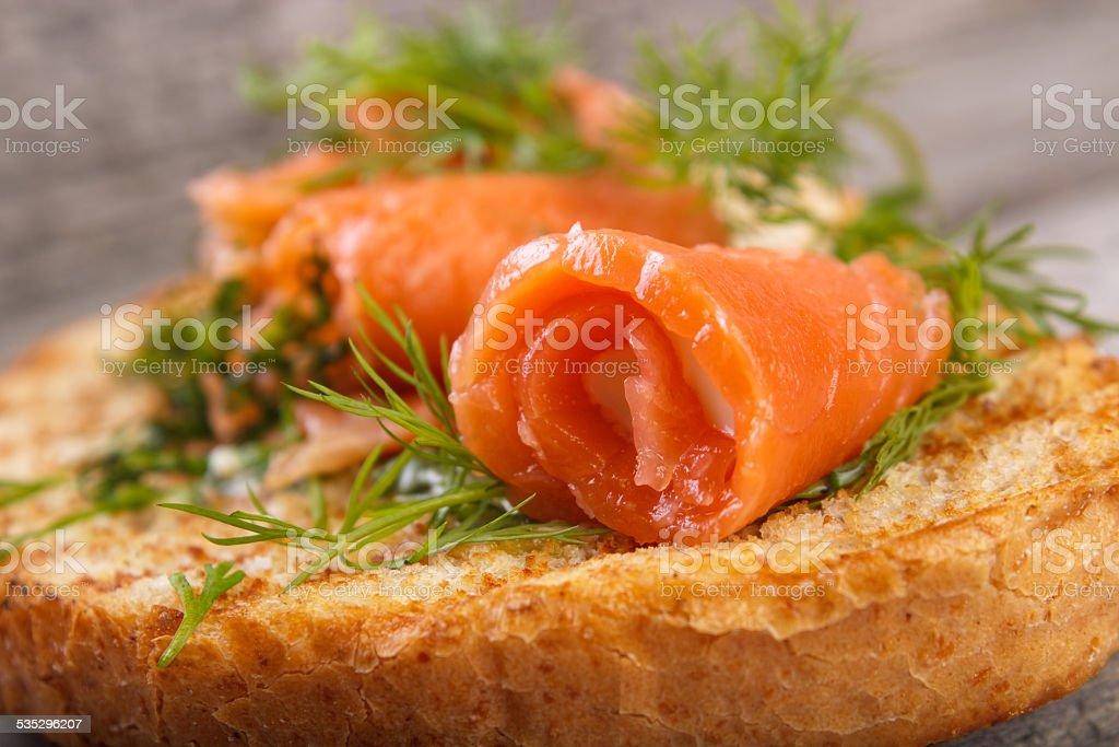 Salmon rolls royalty-free stock photo
