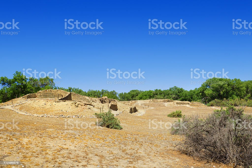 Salmon Ruins - New Mexico, USA stock photo