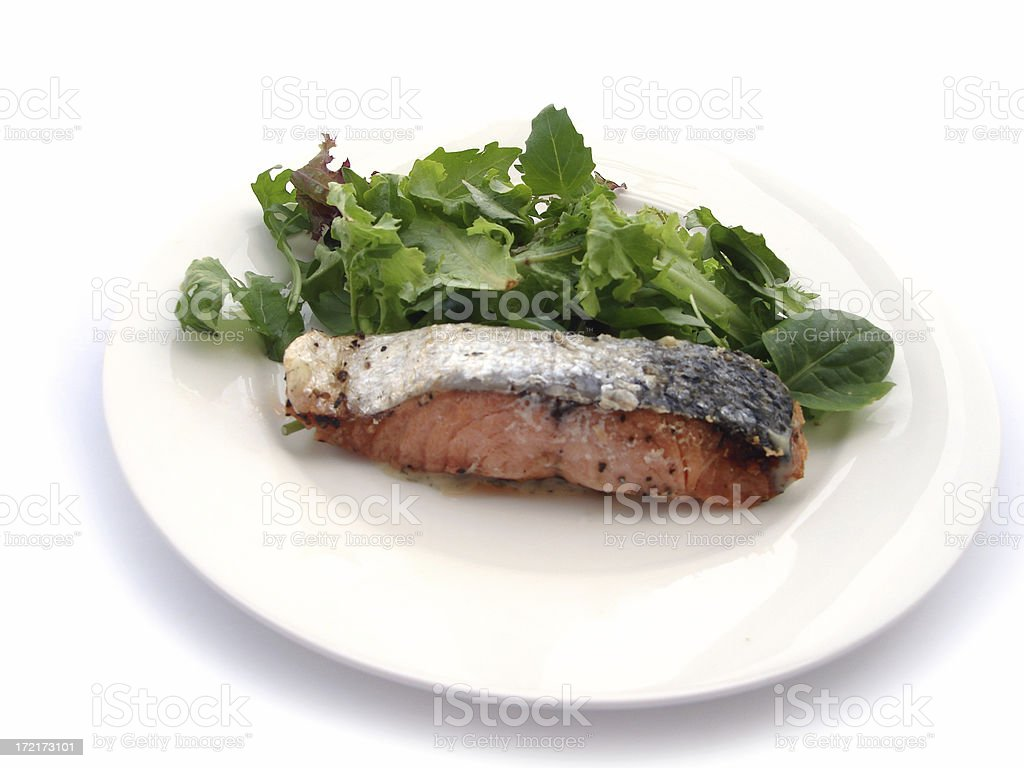 Salmon & Salad stock photo