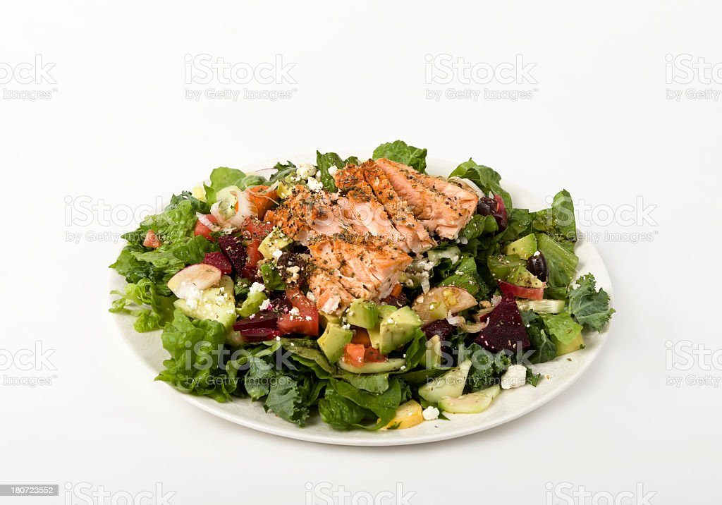 Salmon Salad stock photo
