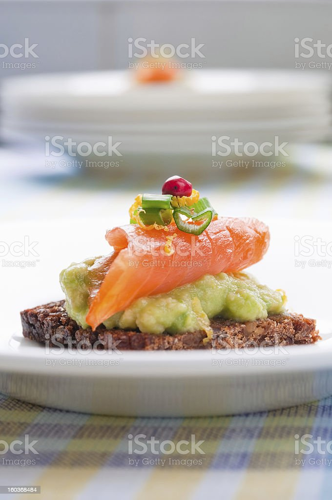 Salmon sandwich royalty-free stock photo