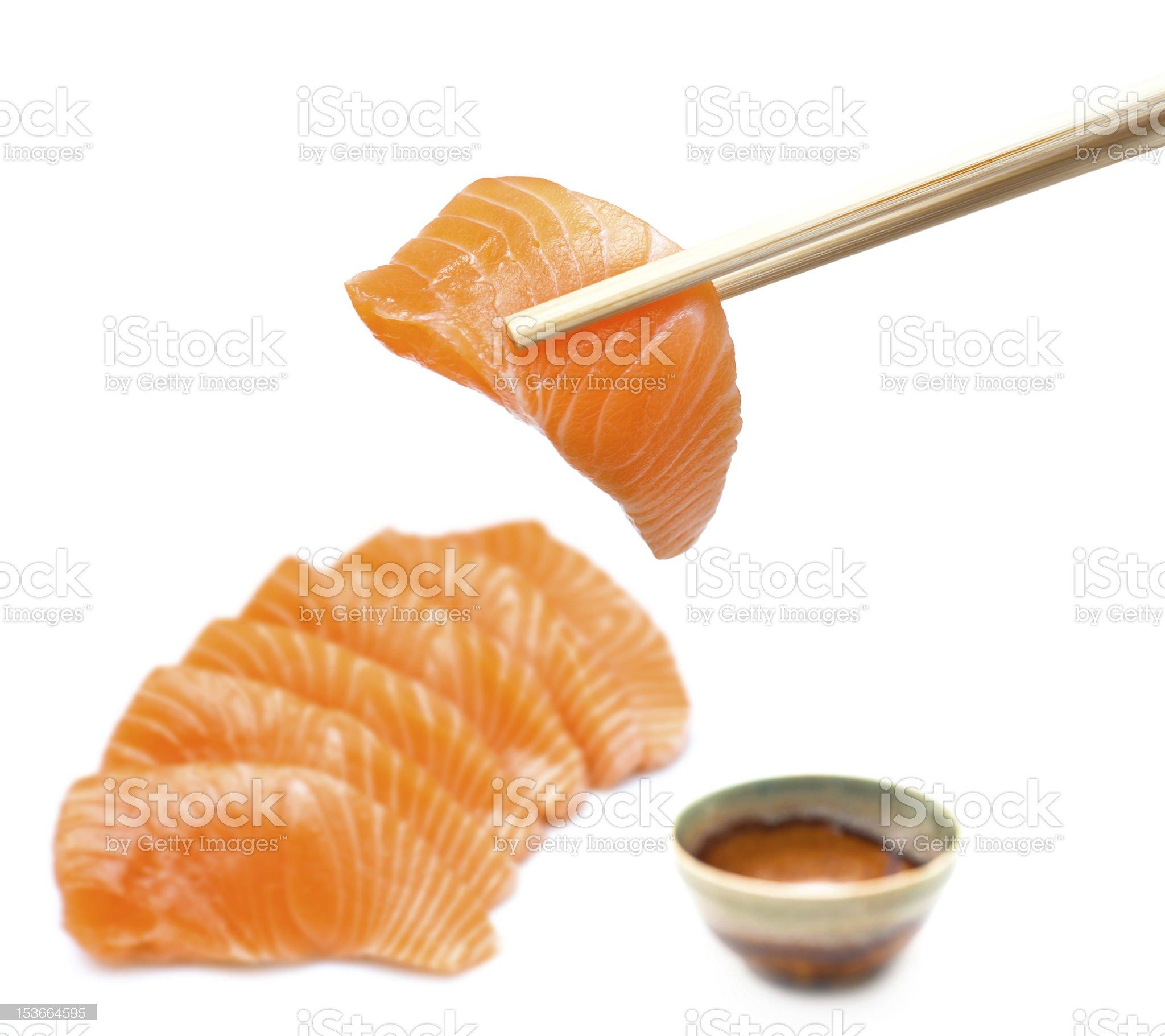 Salmon sashimi set royalty-free stock photo