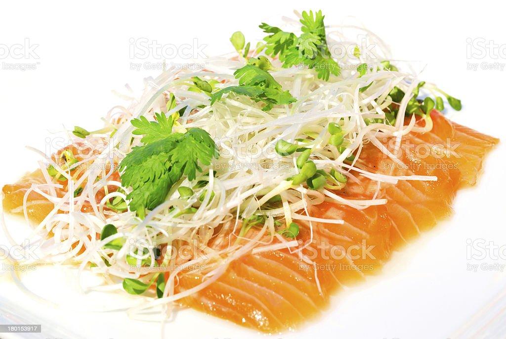 Salmon seshimi royalty-free stock photo