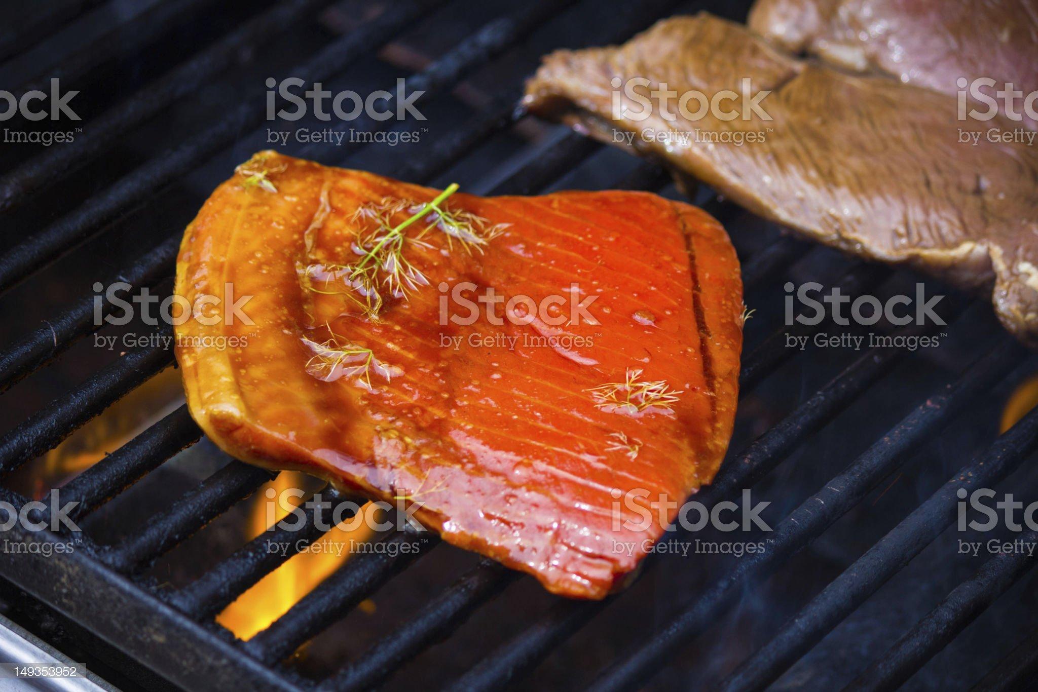Salmon & Sirloin royalty-free stock photo