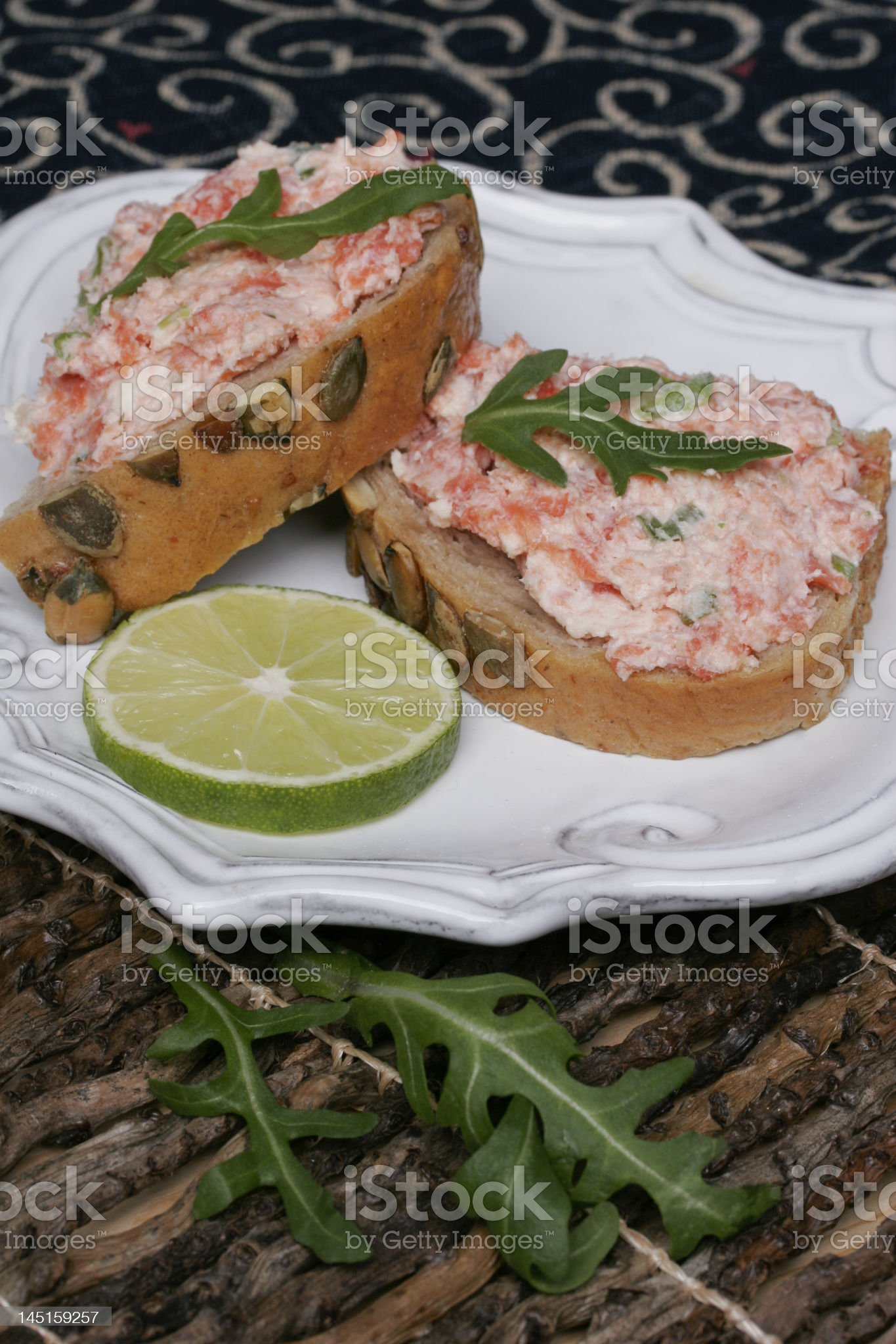 Salmon Spread V royalty-free stock photo
