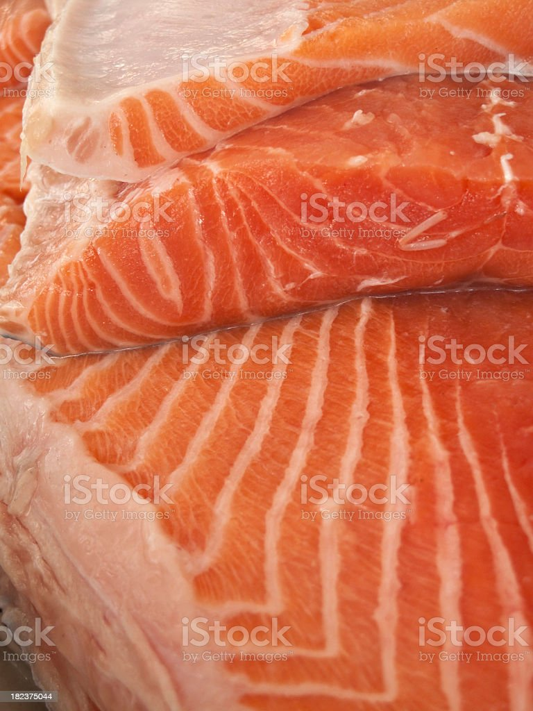 Salmon steak royalty-free stock photo
