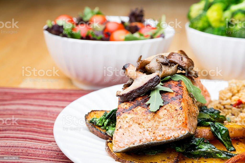 Salmon Superfood Dinner royalty-free stock photo