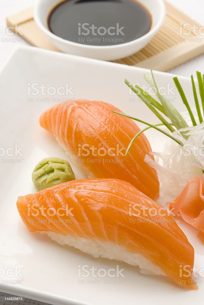 salmon sushi royalty-free stock photo