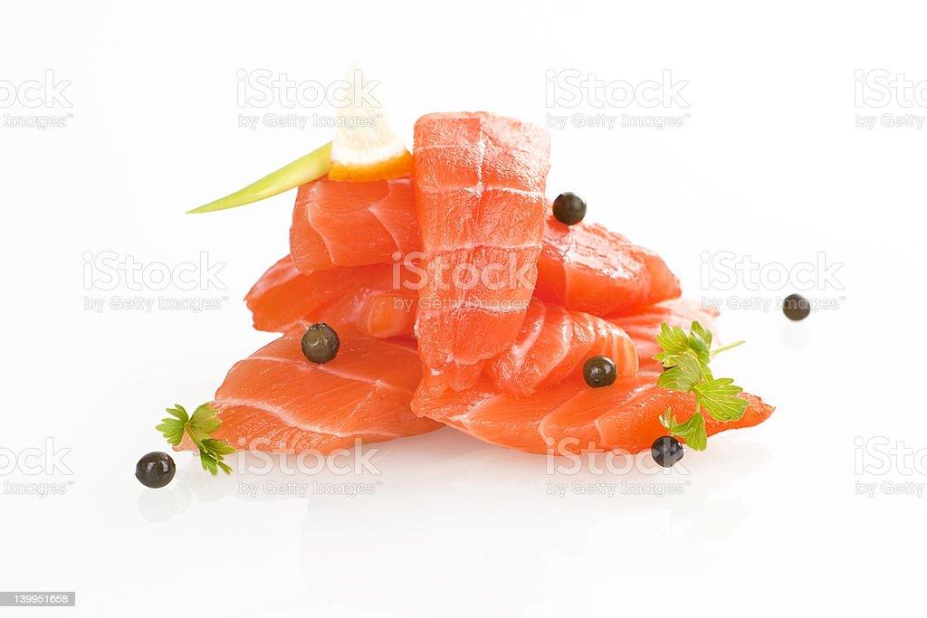 Salmon sushi - sashimi. royalty-free stock photo