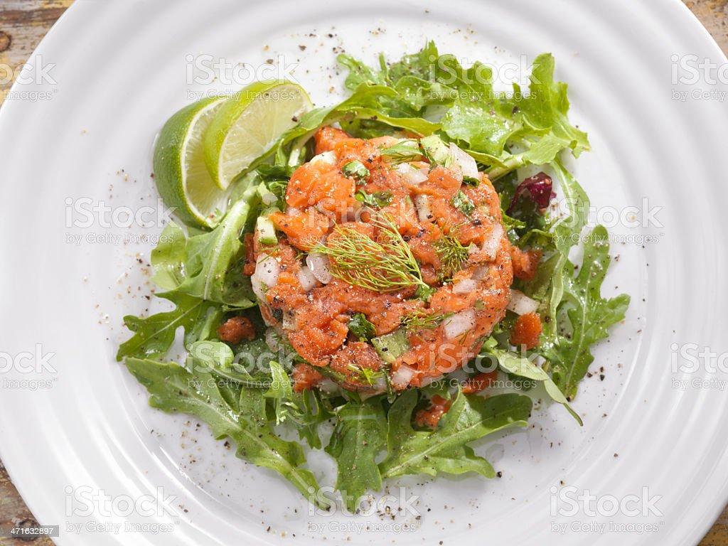 Salmon Tartar royalty-free stock photo