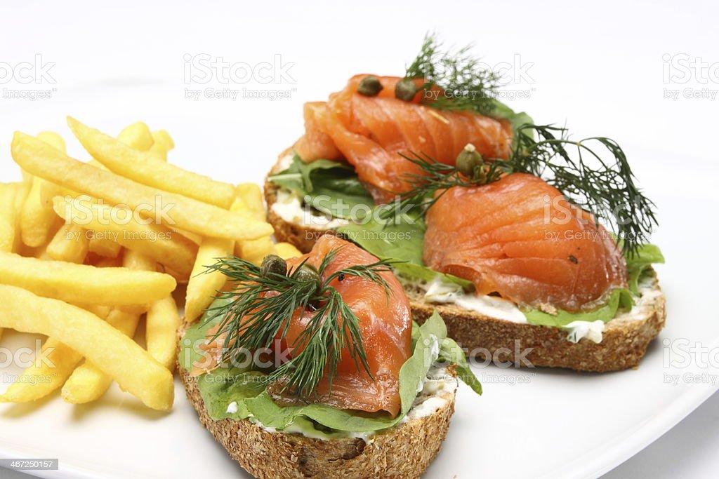Salmon Tartini royalty-free stock photo
