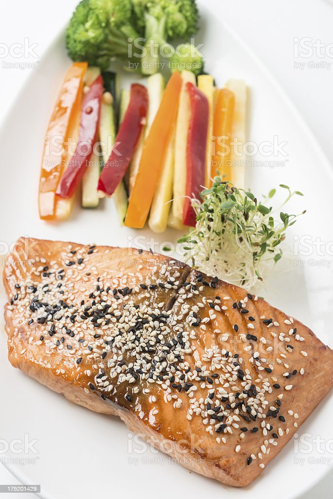 Salmon Teriyaki royalty-free stock photo