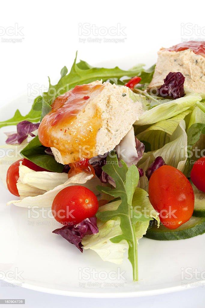 Salmon Terrine Salad stock photo