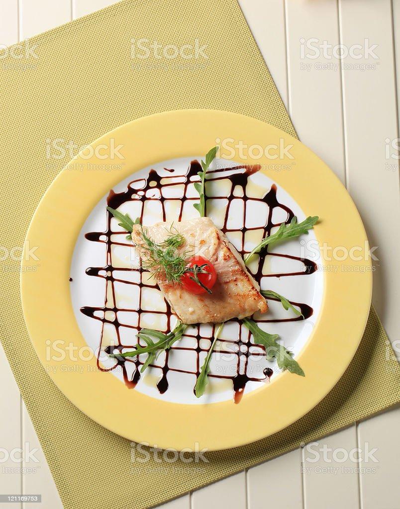 Salmon trout fillet royalty-free stock photo