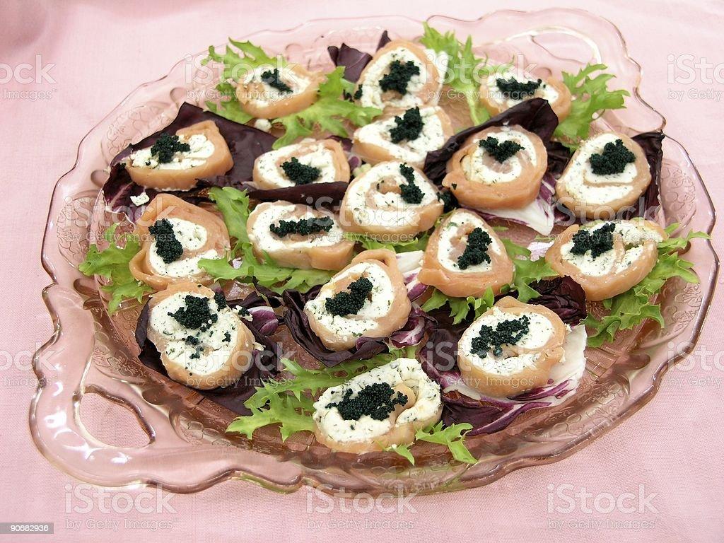 Salmon with Caviar royalty-free stock photo