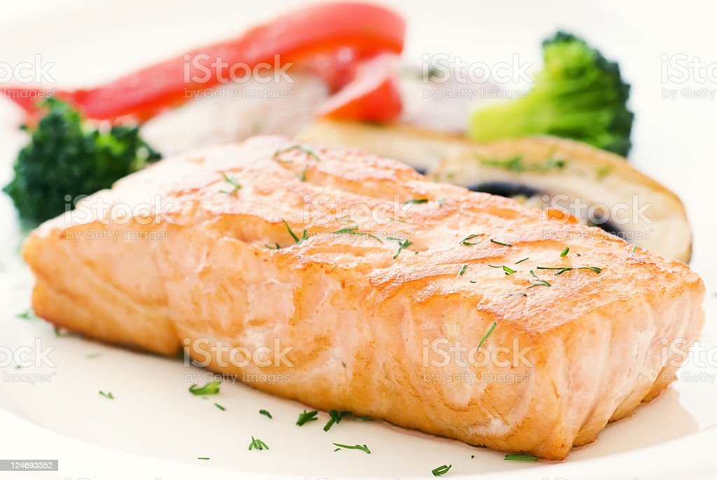 Salmon with Vegetable royalty-free stock photo