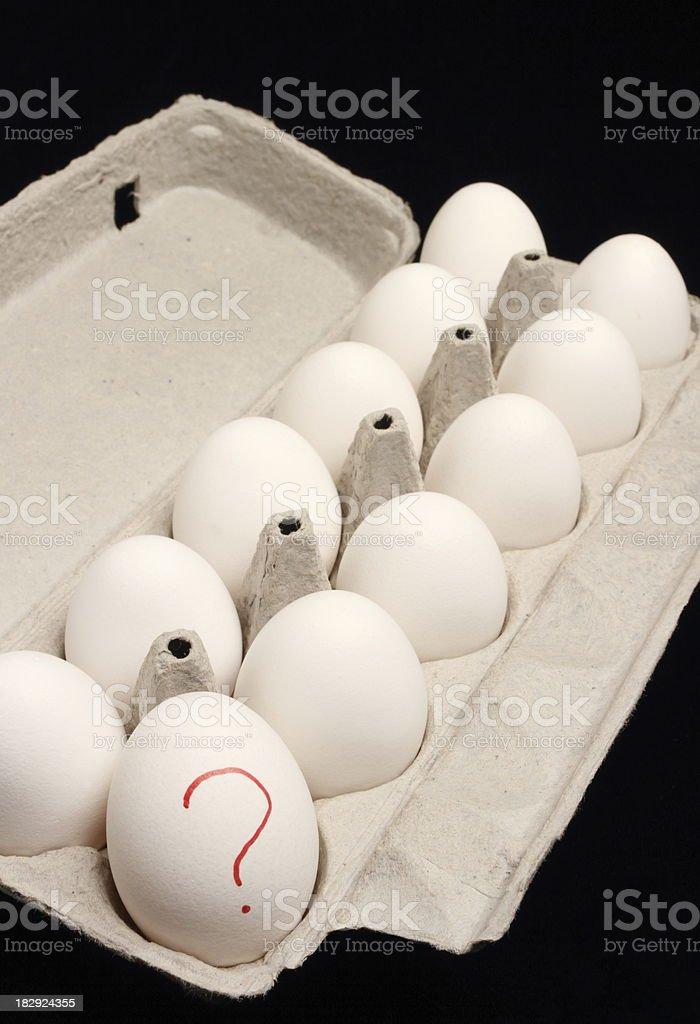 Salmonella Eggs Vertical royalty-free stock photo