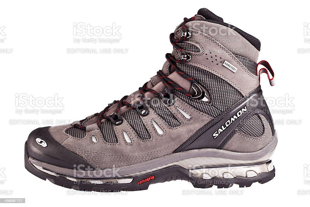 Salomon back packing shoe Quest 4D GTX stock photo