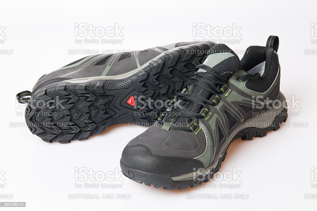 Salomon Evasion GTX Male Hiking Shoe stock photo