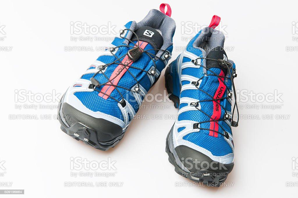 Salomon X Ultra 2 GTX Woman hiking shoe stock photo