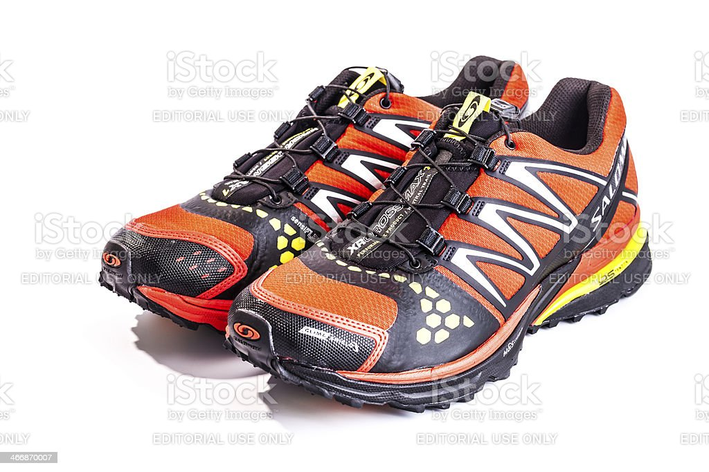 Salomon XR crossmax neutral CS sport shoes for runners, isolated stock photo