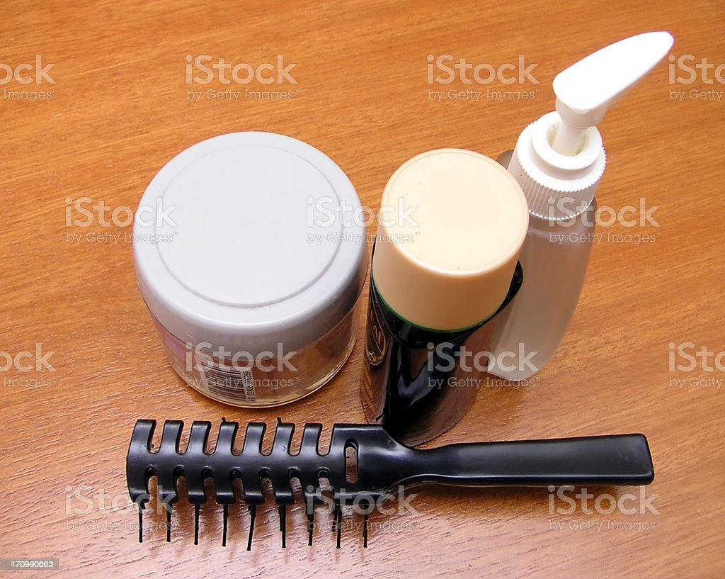 salon- comb and oil royalty-free stock photo