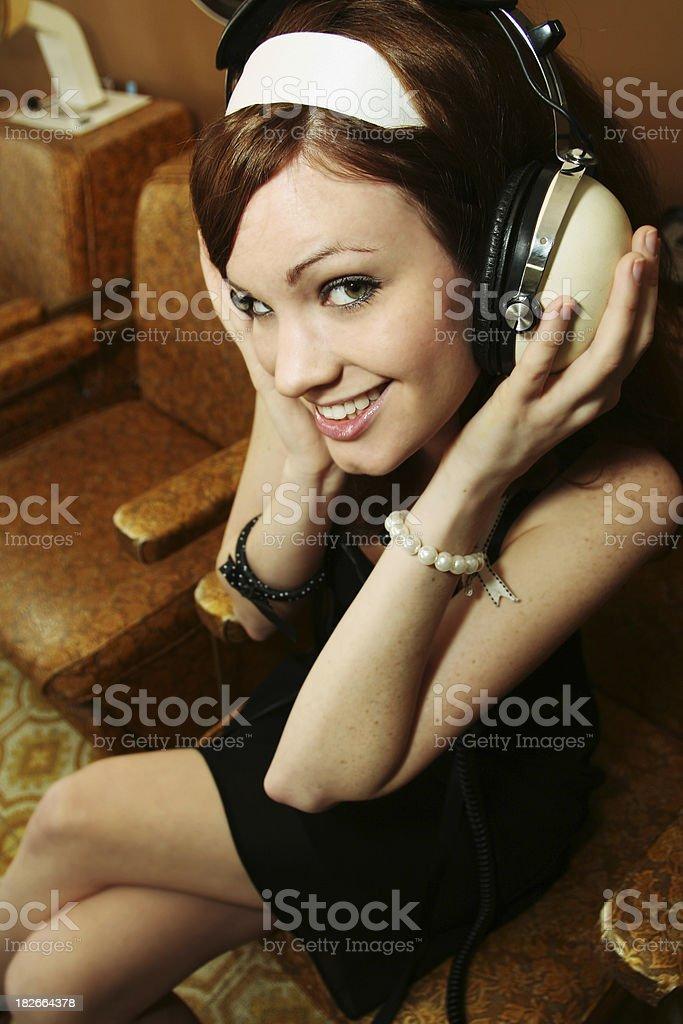 Salon Girl royalty-free stock photo