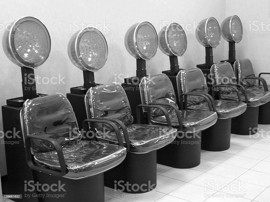 salon hair dryers royalty-free stock photo