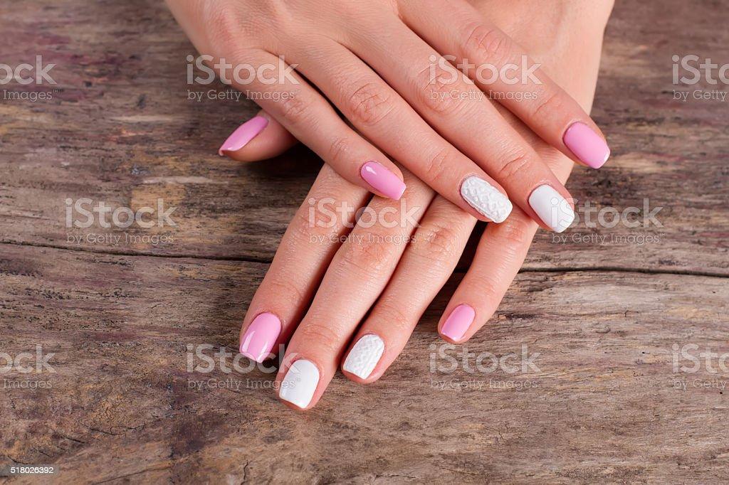 Salon of nail aesthetics. stock photo