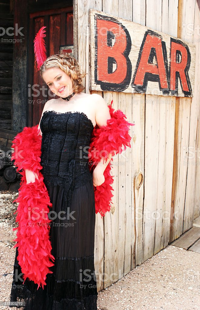 Saloon Girl stock photo