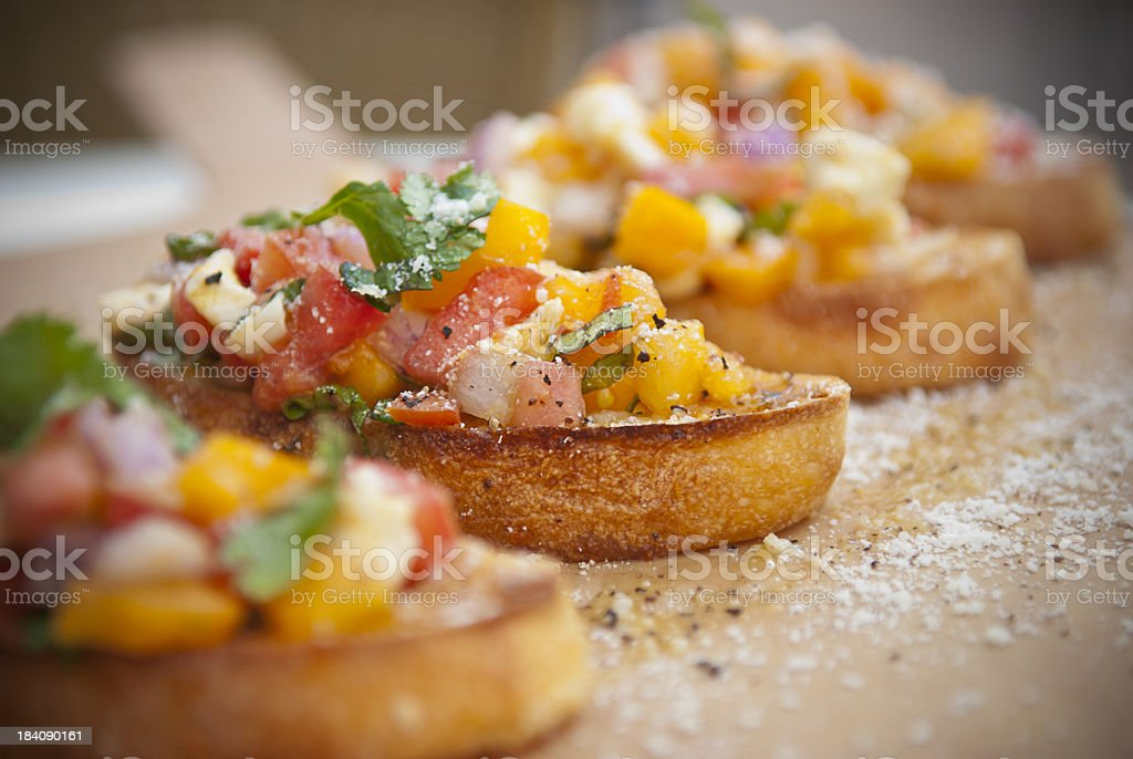 Salsa Bruschetta stock photo