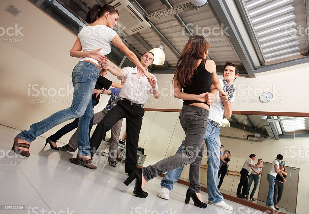 Salsa class stock photo