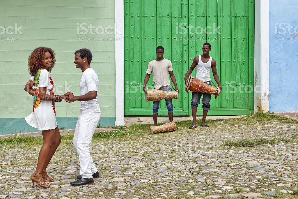 Salsa in Trinidad, Cuba stock photo