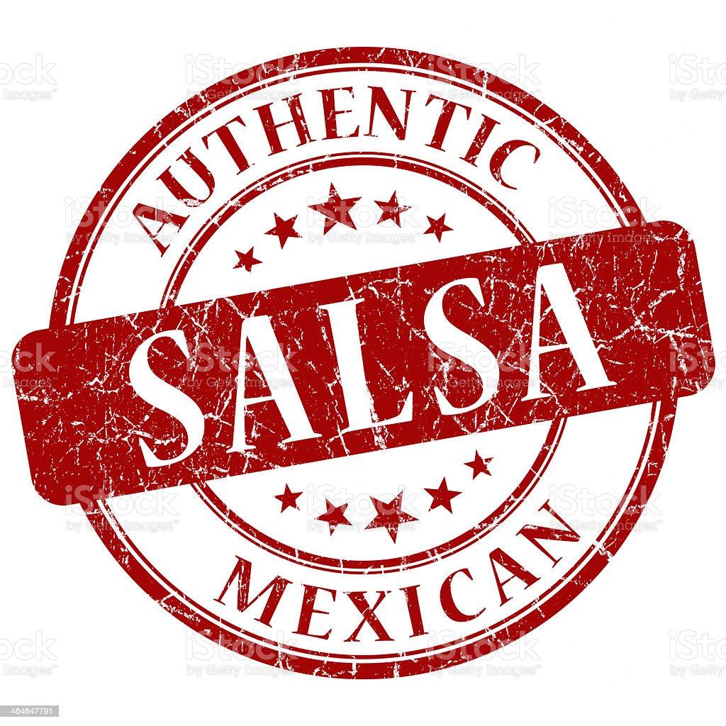 salsa red grunge stamp stock photo