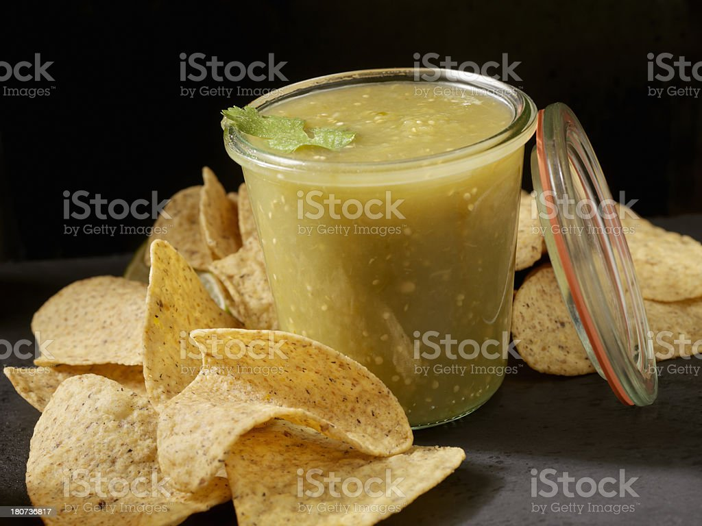Salsa Verde royalty-free stock photo