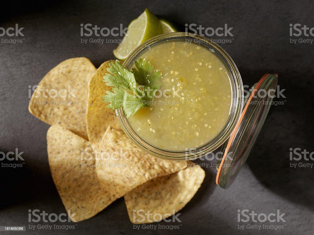Salsa Verde stock photo