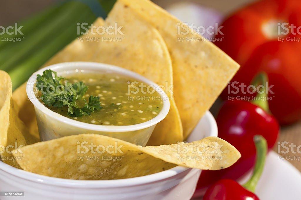 Salsa verde. stock photo