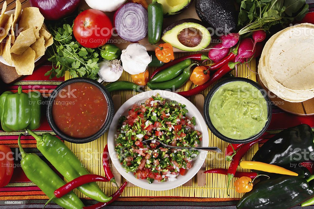 Salsas stock photo