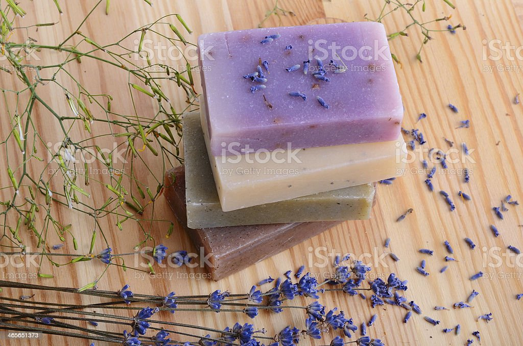Salt and flowers royalty-free stock photo